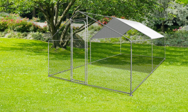 Enclos extérieur animaux 12m²
