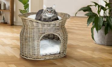 Panier en osier pour chat