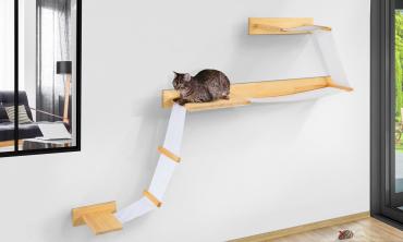 Composition murale pour chat