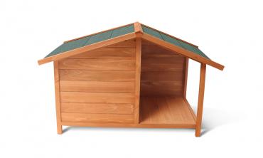 Niche bois terrasse pour chien