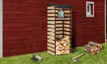 Abri bûches en bois