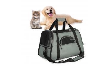 Panier de voyage léger gris pour chien et chat
