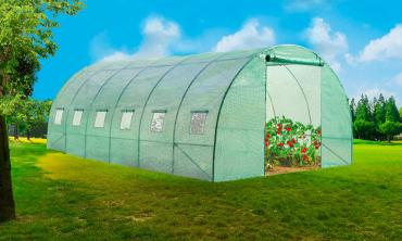 Serre de jardin 4 saisons 3 x 6m / 6 fenêtres