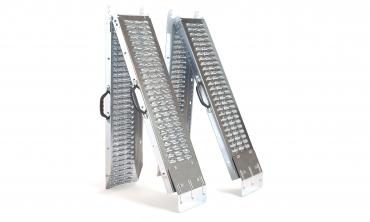 Rampes acier pliables - lot de 2